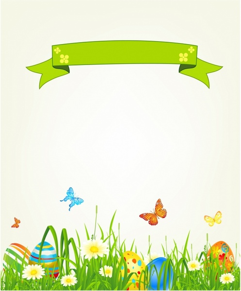 Spring Easter background with egg