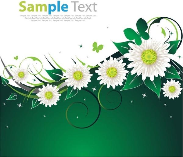 Spring Flower Green Background