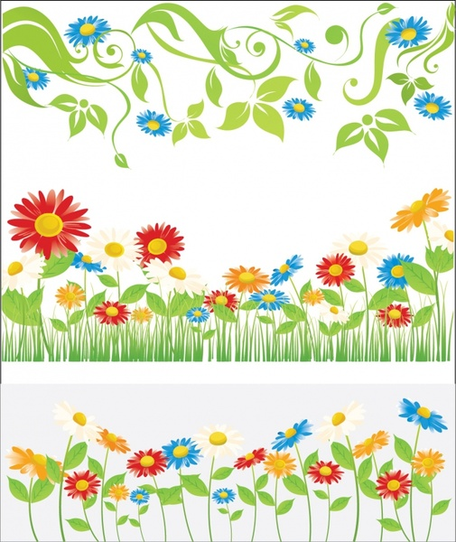 Spring Flowers Clip Art Free Vector Download 218431 Free