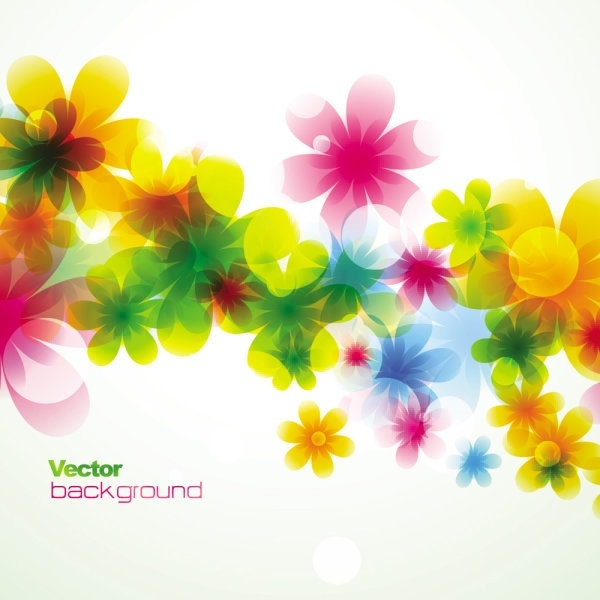 spring flowers background dream 01 vector