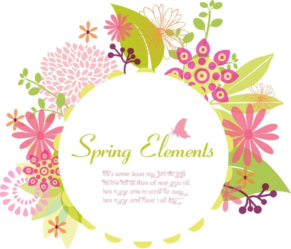 Spring frame Free vector in Adobe Illustrator ai ( .AI ...