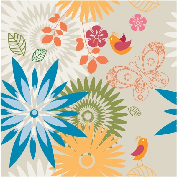 Spring pattern Background
