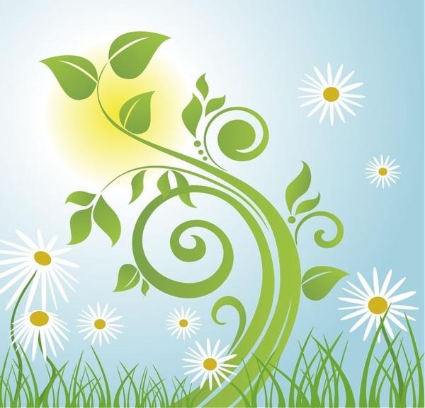 Spring Tree Vector Illustration