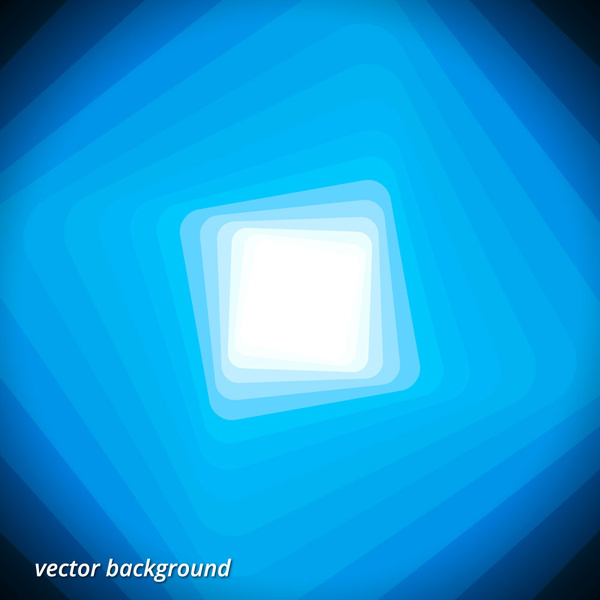 square rotation blue abstract background