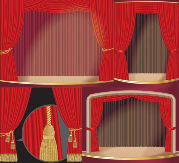 stage curtain vector