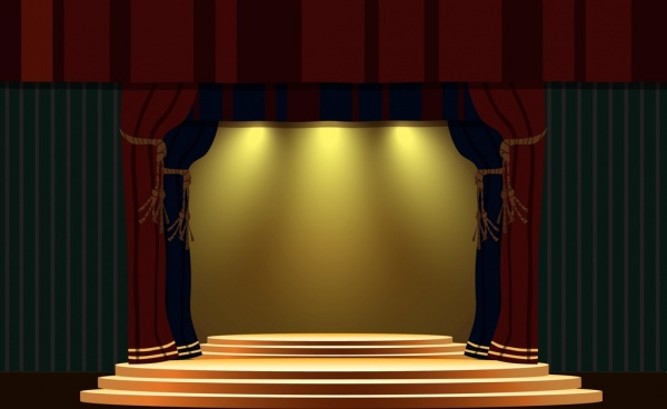 stage design template classical style bright light decoration