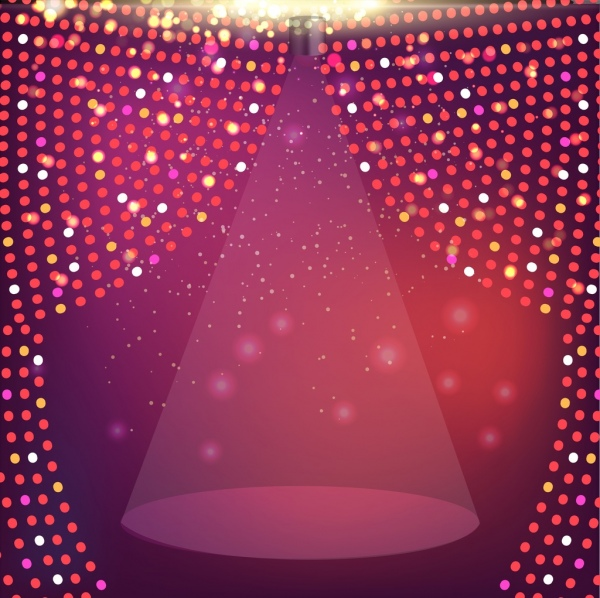 Stage Design Template Sparkling Light Decoration Free Vector In