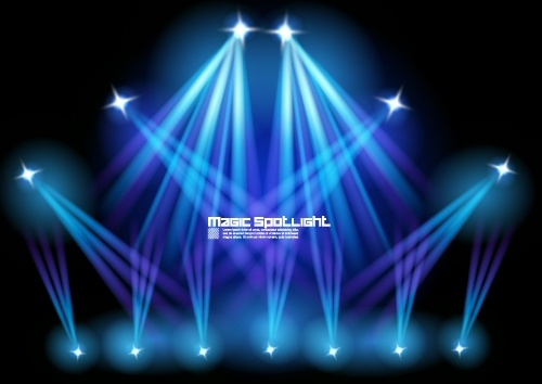 stage lighting effects 01 vector