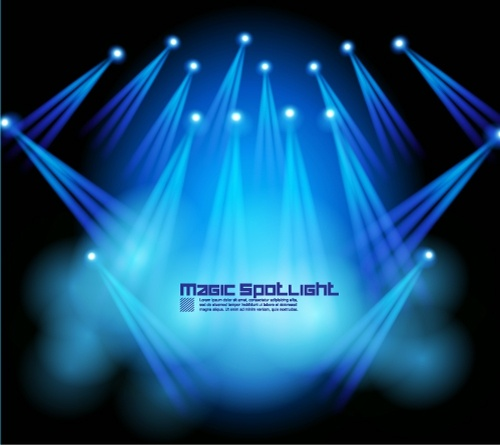 stage lighting effects 05 vector