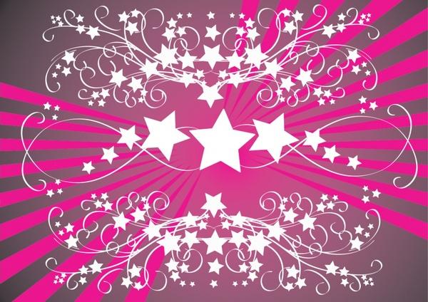 event background classical symmetric curves star decoration