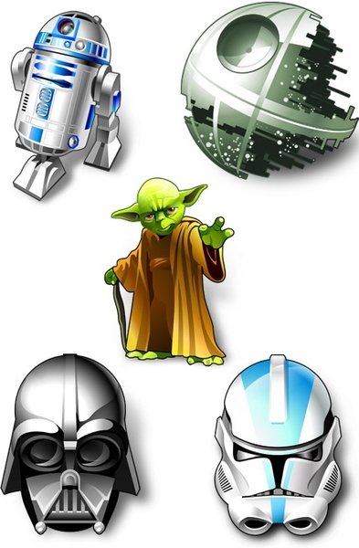 Droid, r2d2, robot, star wars icon