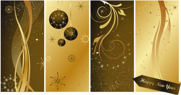 christmas background templates elegant brown baubles decor