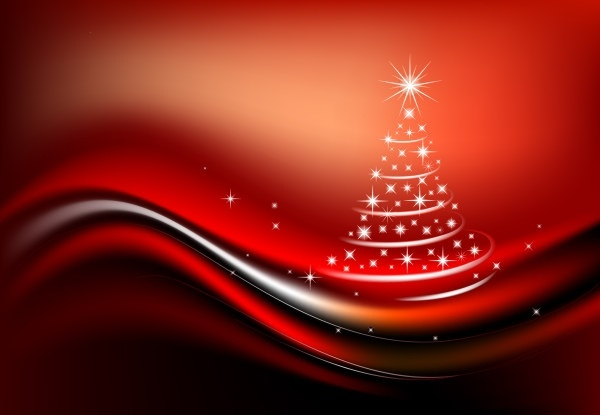 starlight christmas tree composed of vector