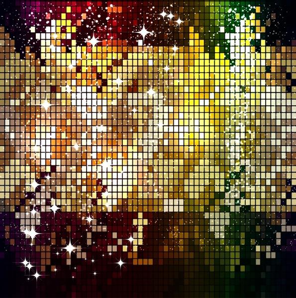 led light background sparkling colorful squares layout