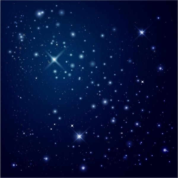 starry night sky free vector in adobe illustrator ai ai