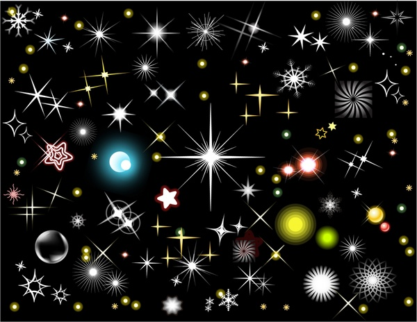decorative background sparkling stars icons ornament