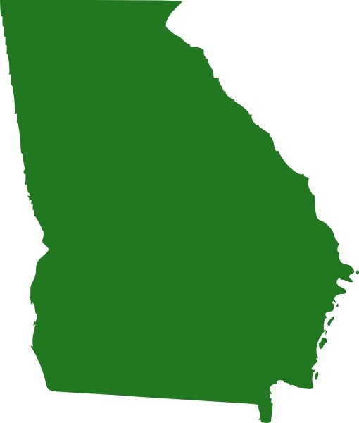 Outline Of Georgia Map.State Of Georgia Map Clip Art Free Vector In Open Office Drawing Svg