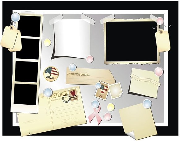 stationery postcards photos vector