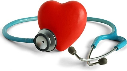 stethoscope and heartshaped picture
