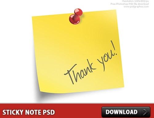 Sticky Note Free PSD