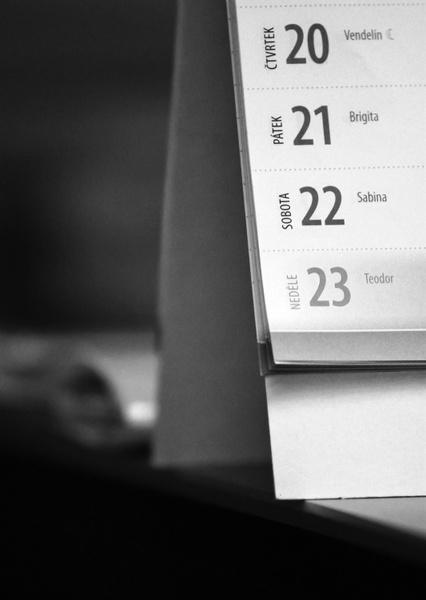 still life date calendar