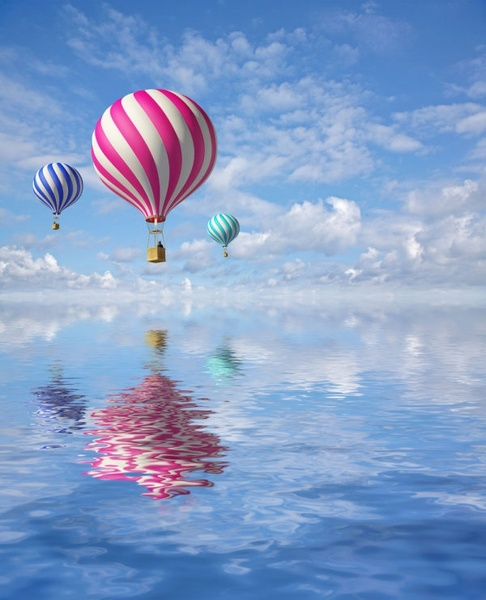 stock photo of a hot air balloon 01 hd picture