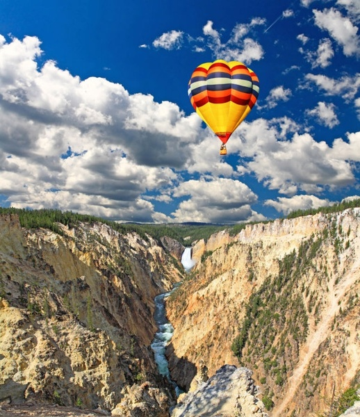 stock photo of a hot air balloon 03 hd picture