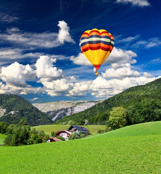 stock photo of a hot air balloon 04 hd picture