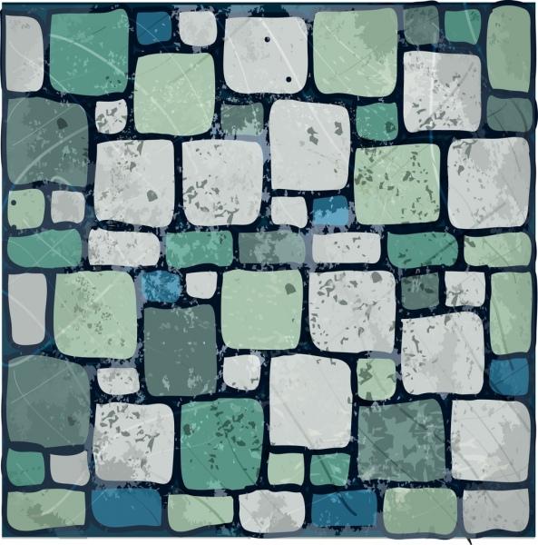 stone wall background colorful retro flat design