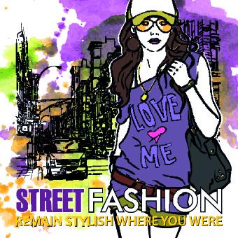 street fashion design elements vector