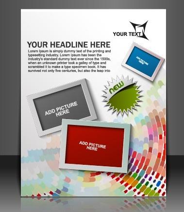 stylish brochure flyer design vector graphic