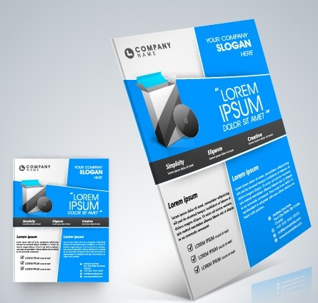 stylish business flyer template design free vector in encapsulated