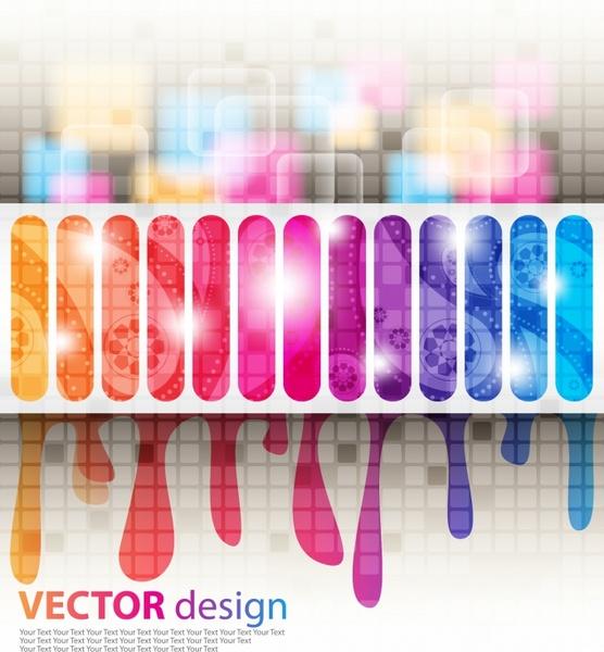 decorative background shiny gorgeous colorful modern blurred melting