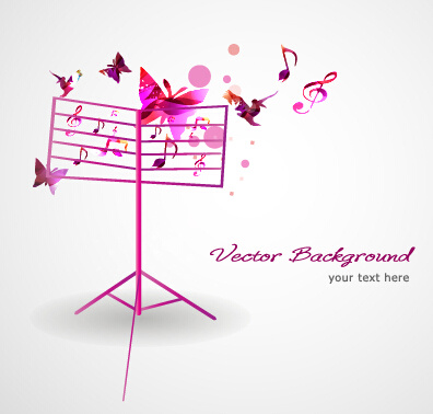 stylish colorful music vector background graphics