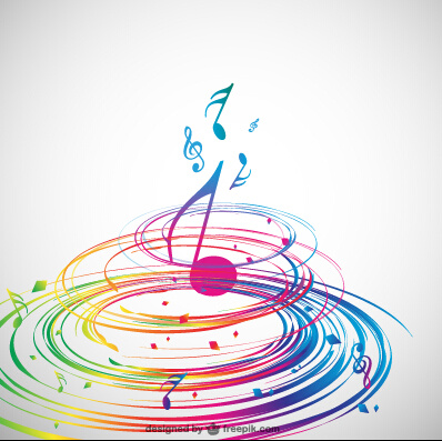 aaf3985c32144c Stylish colorful music vector background graphics Free vector in ...