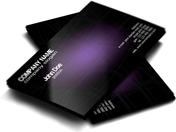 Stylish Dark Purple Free Business Card Template Free Vector In Adobe