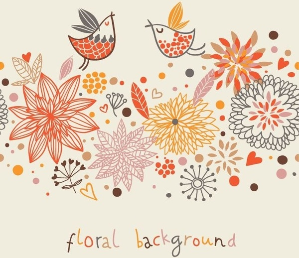 stylish floral vector background free vector in encapsulated