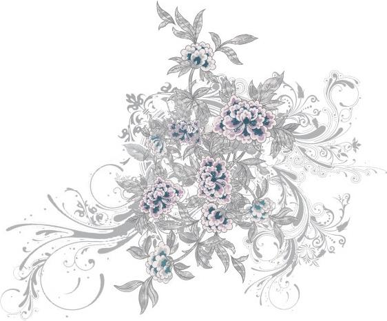 stylish handpainted pattern psd 6