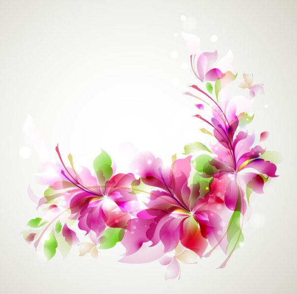 stylish shiny flower art background vector