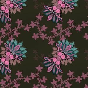 Stylized floral ornament pattern