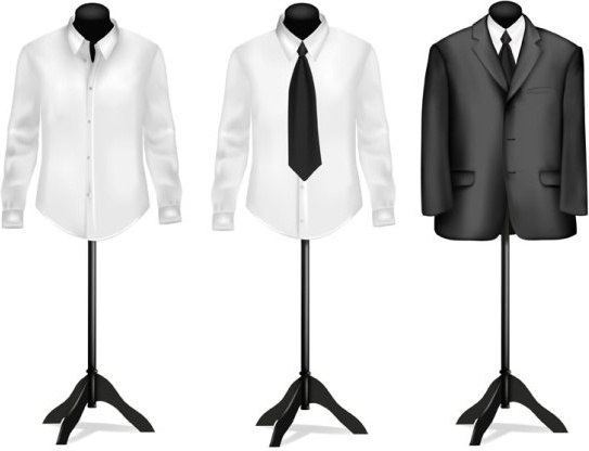 suit and shirt vector