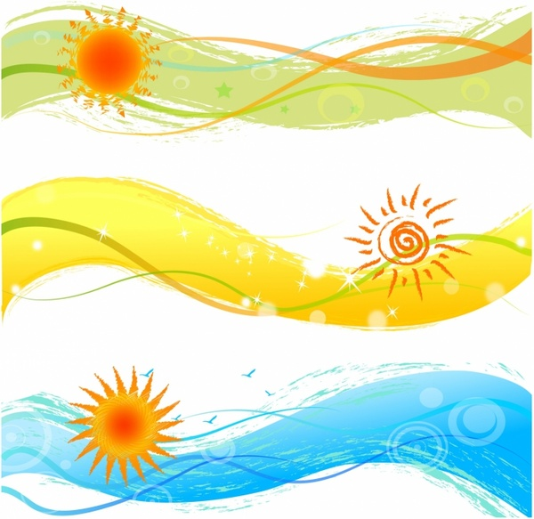 summer banners with sun free vector in adobe illustrator Book Clipart For Free Prayer Hands Clip Art