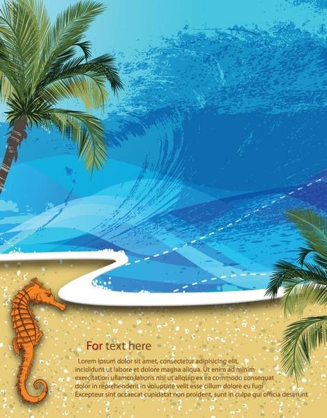 summer beach background 01 vector