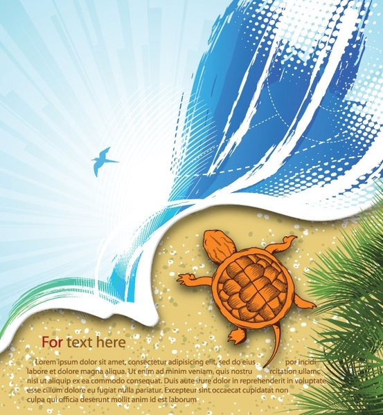 summer beach background 03 vector