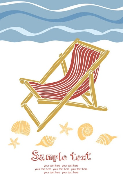 summer beach holidays vector 5