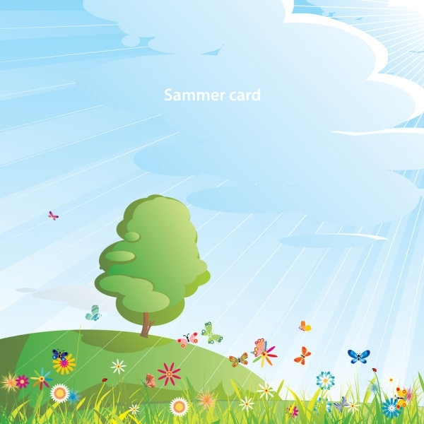 summer cartoon images 05 vector