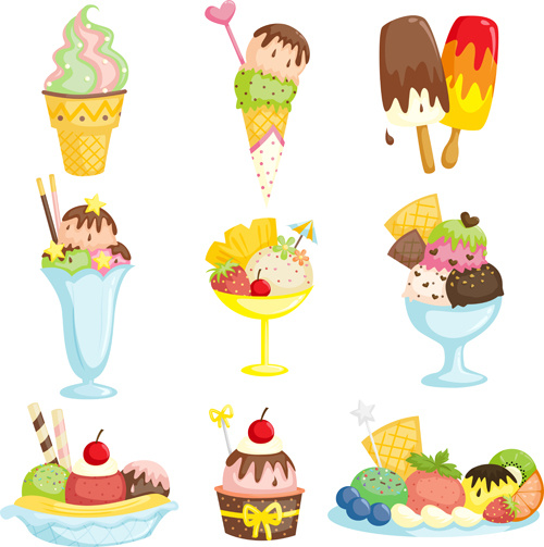 Summer Ice Cream Wallpaper: Vector Delicious For Free Download About (97) Vector