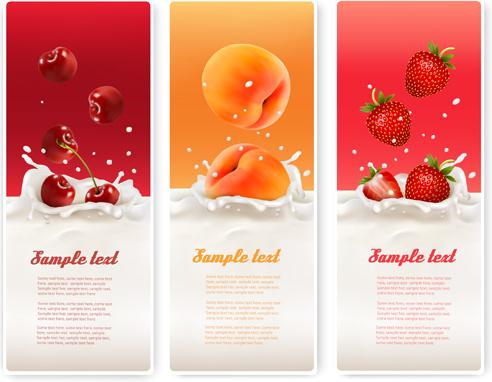 summer drinks advertising banner vector
