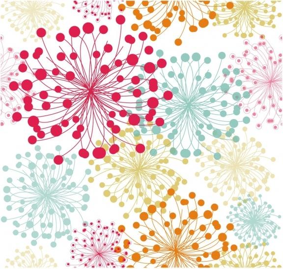 Summer floral pattern