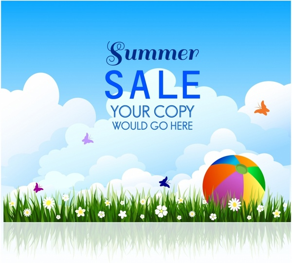 summer sale background template free vector in adobe illustrator ai